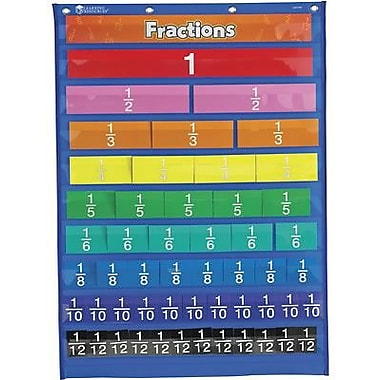 Learning Resources® Rainbow Fraction Equivalency Pocket Chart, Grades 1st and Up