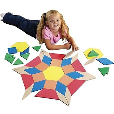 Safe-T Products Giant Foam Floor Pattern Block Puzzle (LER4357)