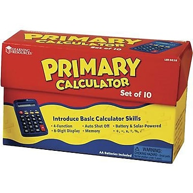 Learning Resources - Calculatrice primaire, 10/paquet