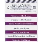 Edupress® Quick Flip Activities Book For Multiple Intelligences Activities, Grades 2nd - 12th