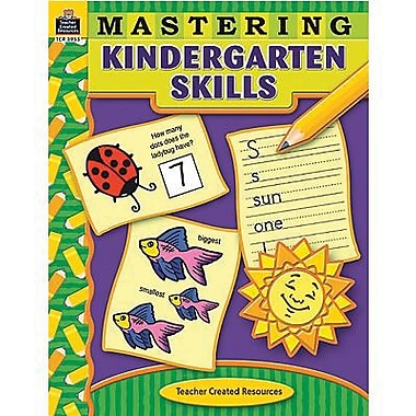Teacher Created Resources - Livre Mastering Kindergarten Skills, maternelle