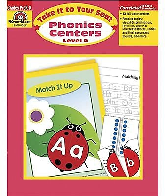 Evan-Moor® Take It To Your Seat Phonics Centers, GR: PreK-K