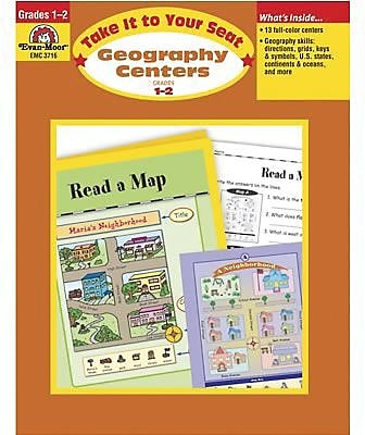 Evan-Moor® Take It To Your Seat Geography Centers, GR: 1-2