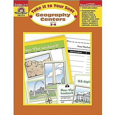 Evan-Moor® Take It To Your Seat Geography Centers Book, Grades 3rd - 4th