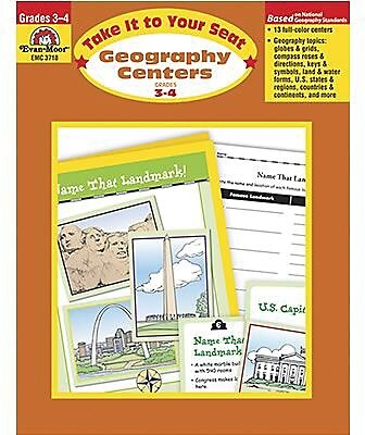 Evan-Moor® Take It To Your Seat Geography Centers, GR: 3-4
