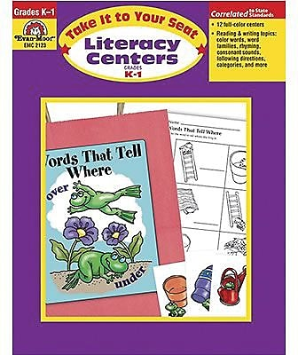 Evan-Moor® Take It To Your Seat Literacy Centers, GR: K-1