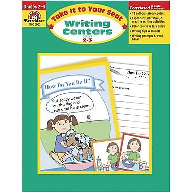 Evan-Moor® Take It To Your Seat Writing Centers Book, Grades 2nd - 3rd