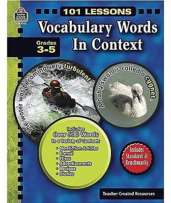 Teacher Created Resources Vocabulary Words in Context, Grade 3-5
