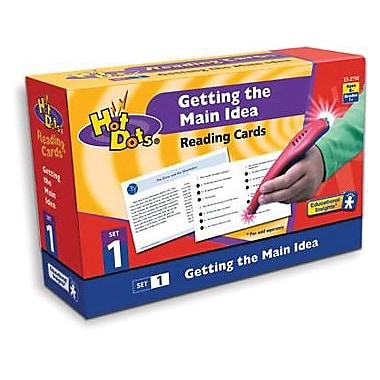 Educational Insights Hot Dots Reading Comprehension Card Kit, Getting The Main Idea (2790)