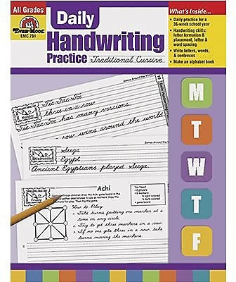 Evan-Moor® Daily Handwriting Practice, Traditional Cursive