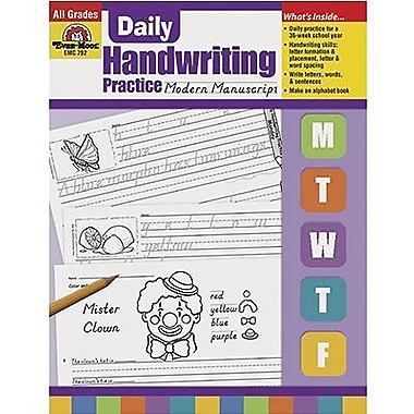 Evan-Moor® Daily Modern Manuscript Handwriting Practice Book (EMC792)