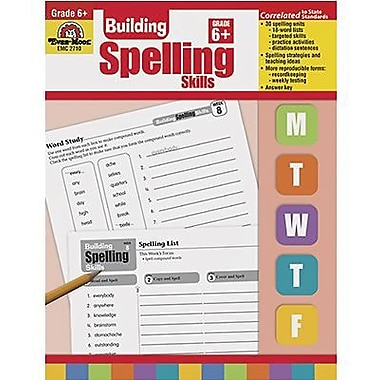 Evan-Moor® Spelling Skills Book, Grades 6th