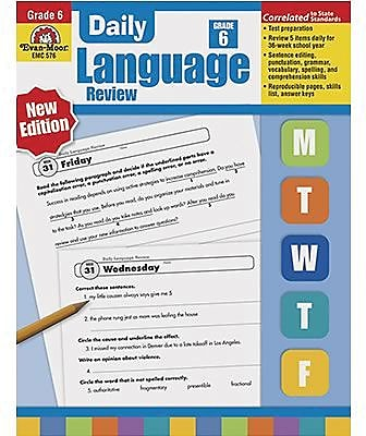 Grammar Skills, Evan-Moor® Daily Language Review Grade 6 and Up