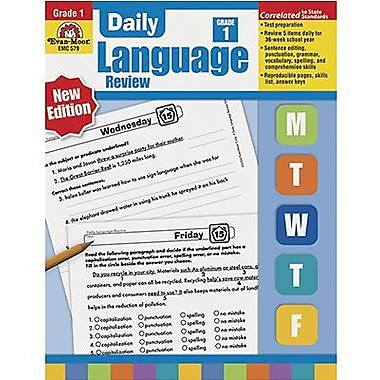 Evan-Moor Daily Language Review Teacher's Edition Book, Grade 1 (EMC579)