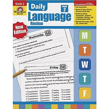 Evan-Moor Daily Language Review Teacher's Edition Book, Grade 2 (EMC580)
