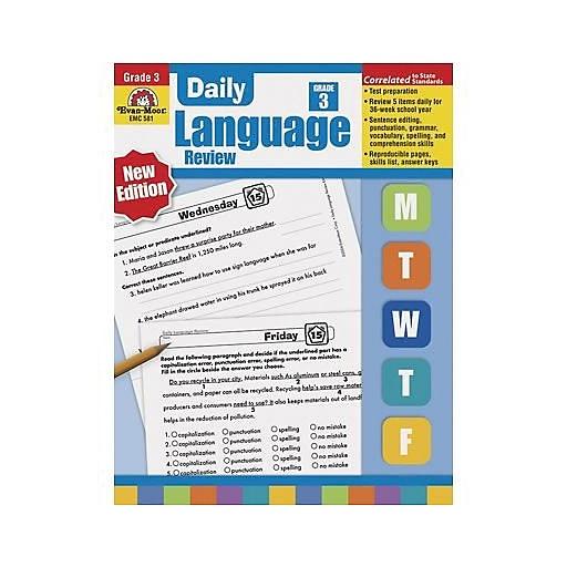 Grammar Skills, Evan-Moor® Daily Language Review Grade 3