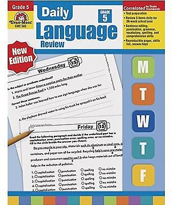 Grammar Skills, Evan-Moor® Daily Language Review Grade 5