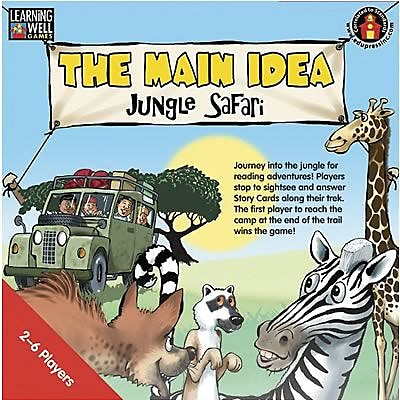 Edupress® The Main Idea - Jungle Safari Game, Red Level, Grades Pre School - 12th