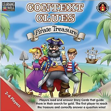 Edupress Context Clues - Pirate Treasure Game, Blue Level, Grade 3 - 12 (LRN301)