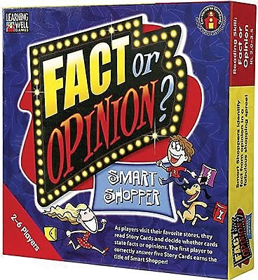 Learning Well® Fact or Opinion: Smart Shopper Games, Level 2.0-3.5