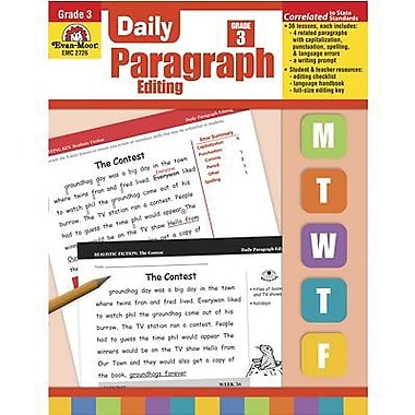 Evan-Moor Daily Paragraph Editing Book, Grade 3 (EMC2726)