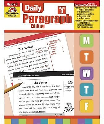 Evan-Moor® Daily Paragraph Editing, Grade 3