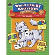Teacher Created Resources® Word Family Activities, Short Vowel, Grades Kindergarten - 1st