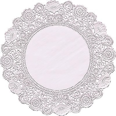 Hygloss Round Paper Lace Doilies, P - 12, 8