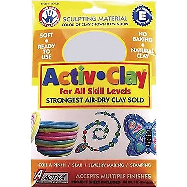 Activa Activ-Clay White Modeling Compound, 1 Lb (API160)