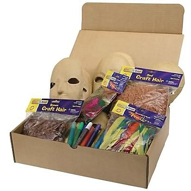 Chenille Craft® Paper Mache Mask Activities Box, Assorted