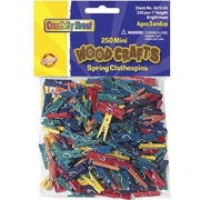 Chenille Craft Clothespins, Mini Spring, 500/Pack (CK-367202)