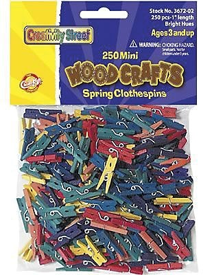 Chenille Craft® Clothespins, Mini Spring