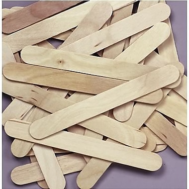 Chenille Craft Natural Jumbo Wood Craft Sticks, 1000/Pack (CK-377601)