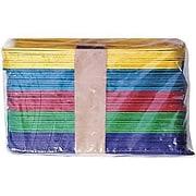 "Chenille Kraft Company Wood Craft Sticks, Assorted Colors, Jumbo Size, 6"" x 3/4"", 500/PK, 2 PK/BD"
