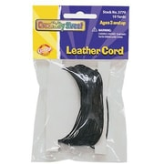Chenille Craft® Leather Cord, Black