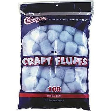 Chenille Craft® Craft Fluff Balls, Blue