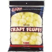 Chenille Craft® Craft Fluff Balls, Yellow
