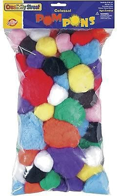 Chenille Craft® Colossal Poms Pons, 1 pound