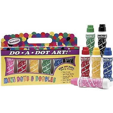 Do-a-dot Art Mini Marker, Island Bright, 18/Pack (DAD107)