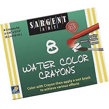 Sargent Art® Watercolor Crayon, 8/Box