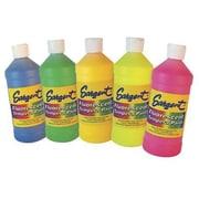 Sargent Art® Special Tempera Paint, Assorted Fluorescent, 6/Set