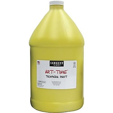 Sargent Art Art-Time Non-toxic 128 oz. Liquid Tempera Paint, Yellow (SAR176602)