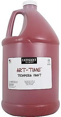 Sargent Art Art-Time Non-toxic 128 oz. Liquid Tempera Paint, Red (SAR226620)