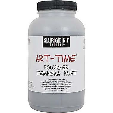 Sargent Art Art-Time Non-Toxic 1 lb. Tempera Paint, Black (22-7185)
