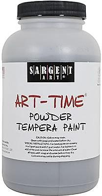 Sargent Art Art-Time Non-Toxic 1 lb. Tempera Paint, Black (22-7185)
