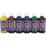 Sargent Art Non-toxic 8 oz. Glitter Washable Watercolor 6/Set, Assorted (SAR229099)