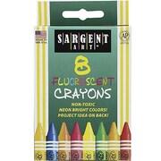 Sargent Art® Fluorescents Crayon, 8/Box