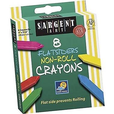 Sargent Art® Flatsiders No-Roll Crayon, 8/Box