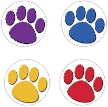 Wear 'Em Badges, Colorful Paw Prints
