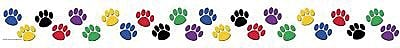 Teacher Created Resources Borders, Colorful Paw Prints